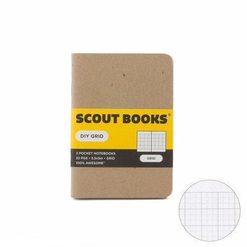 【SCOUT BOOKS/スカウトブックス】DIY Series・パスポートサイズ3冊セット (Grid/方眼)