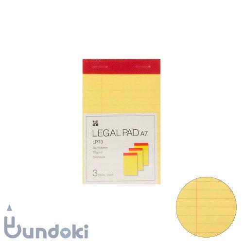 【ITO-YA/伊東屋】リーガルパッド A7・3冊パック (横罫)