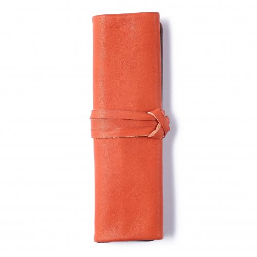 【METAPHYS/メタフィス】famm Roll Up Pencase /ロールペンケース (オレンジ)