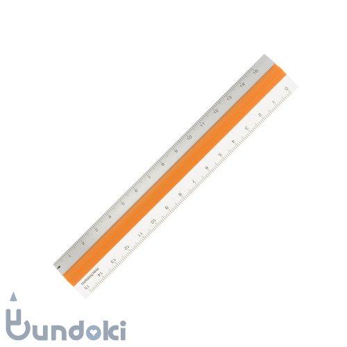 【mochimono/モチモノ】滑らない定規・ピタットルーラー 15cm (オレンジ)