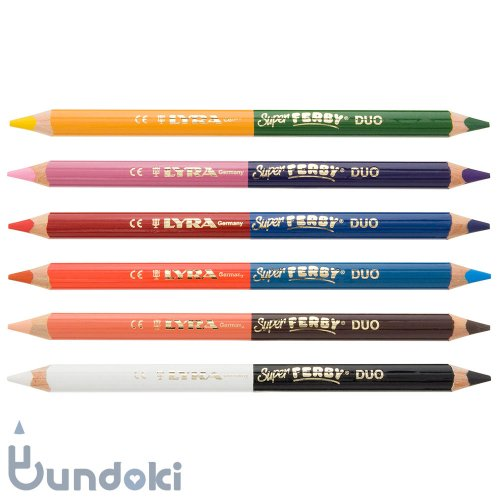 【LYRA/リラ】SUPER FERBY DUO Colors/ 2色色鉛筆6本セット (12色)
