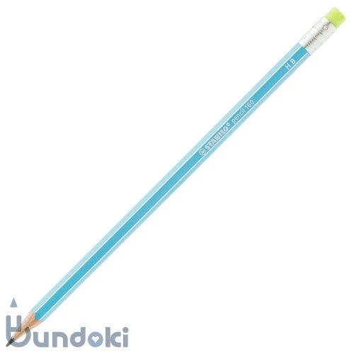 【STABILO/スタビロ】Pencil 160 ・消しゴム付き (ブルー/HB)