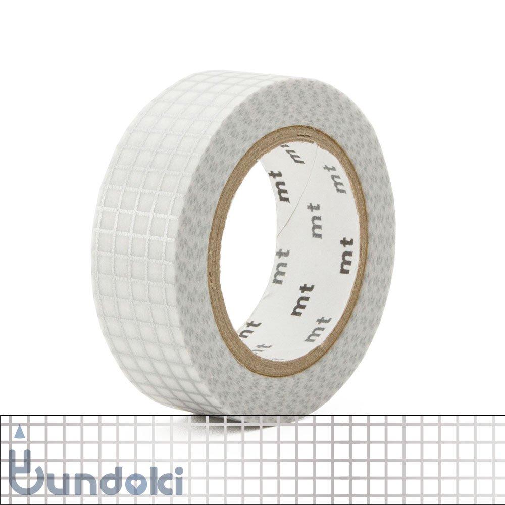 【カモ井加工紙/KAMOI】mt 1P マスキングテープ / 方眼・銀
