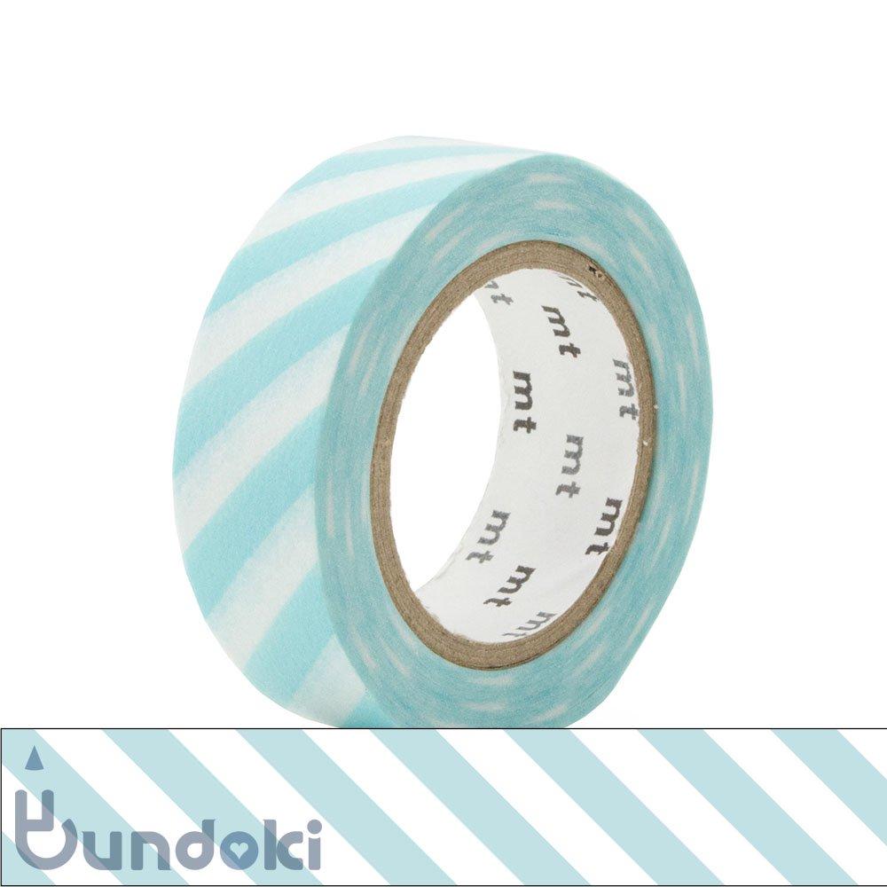 【カモ井加工紙/KAMOI】mt 1P マスキングテープ / ストライプ・ミントブルー