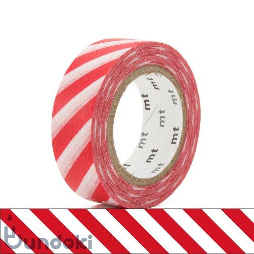 【カモ井加工紙/KAMOI】mt 1P マスキングテープ / ストライプ・レッド