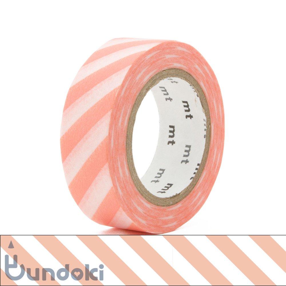 【カモ井加工紙/KAMOI】mt 1P マスキングテープ / ストライプ・サーモンピンク