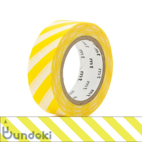 【カモ井加工紙/KAMOI】mt 1P マスキングテープ / ストライプ・レモン
