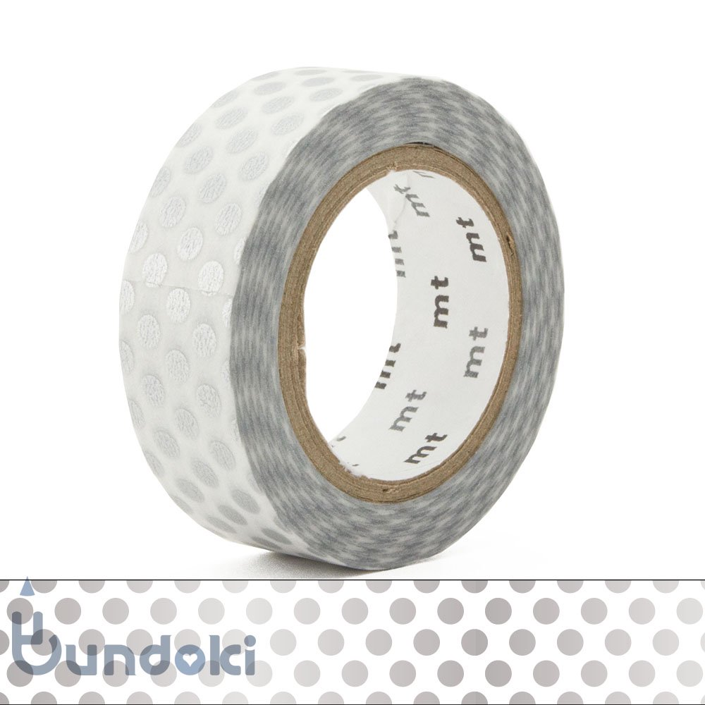 【カモ井加工紙/KAMOI】mt 1P マスキングテープ / ドット・銀