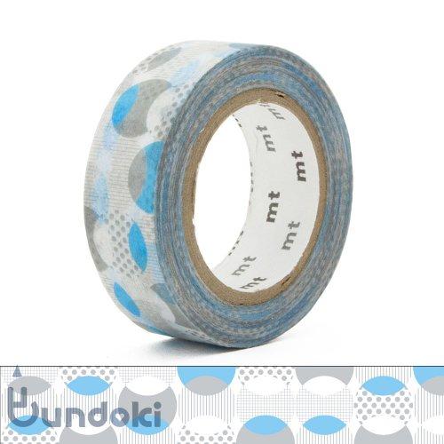 【カモ井加工紙/KAMOI】mt 1P マスキングテープ / 重なりドット・ブルー