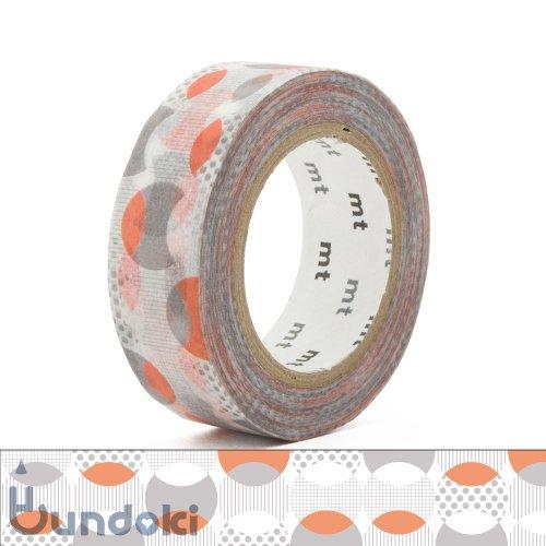 【カモ井加工紙/KAMOI】mt 1P マスキングテープ / 重なりドット・オレンジ