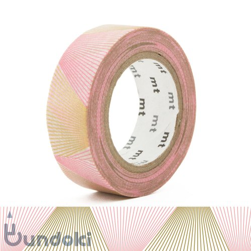 【カモ井加工紙/KAMOI】mt 1P マスキングテープ / ライングラデーション・ゴールド