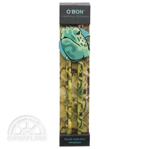 【O'BON/オーボン】新聞紙鉛筆/WILDLIFE・2本セット(カメ)
