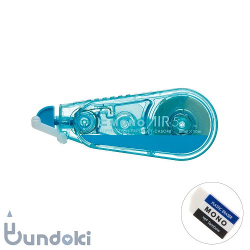 【TOMBOW/トンボ鉛筆】 MONO AIR 5C40 / 修正テープ・モノエアー5C40 ブルー (5mm)・限定マグネット付き