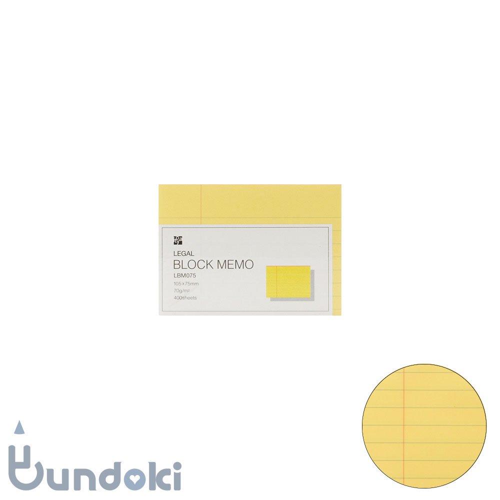 【ITO-YA/伊東屋】リーガルブロックメモ・105×75mm