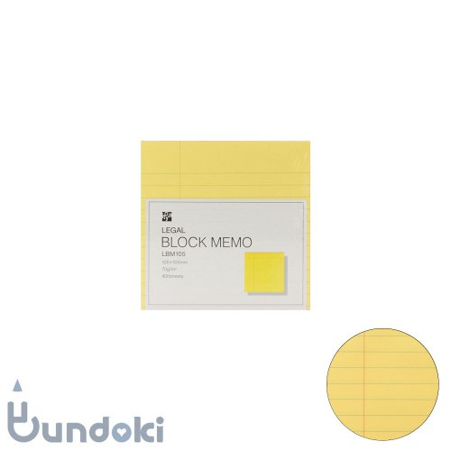 【ITO-YA/伊東屋】リーガルブロックメモ・105×105mm
