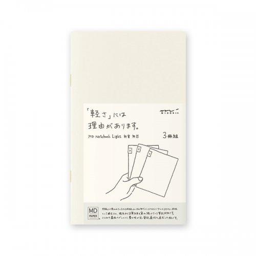 【MIDORI/ミドリ】MDノートライト・新書サイズ (無罫) 3冊組