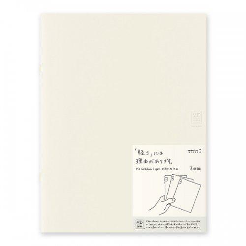 【MIDORI/ミドリ】MDノートライト・A4変形判 (無罫) 3冊組