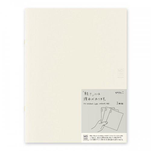 【MIDORI/ミドリ】MDノートライト・A4変形判 (横罫) 3冊組