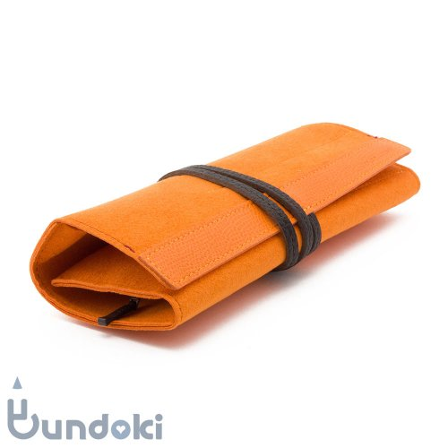【ITO-YA/伊東屋】COLOR CHART ロールペンケース (サンセットオレンジ)