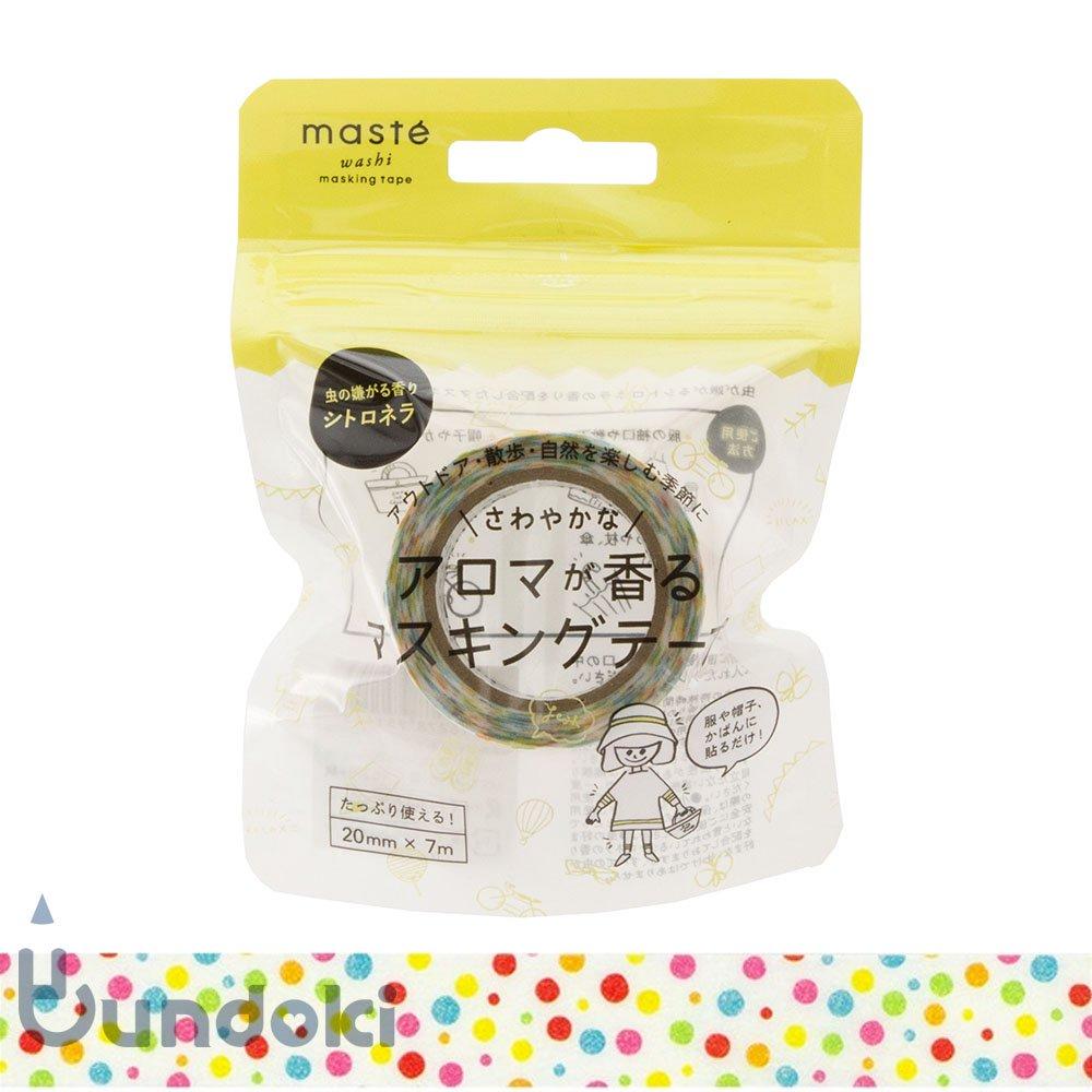 【Mark's/マークス】アロマが香るマスキングテープ・マステ (カラフルドット)