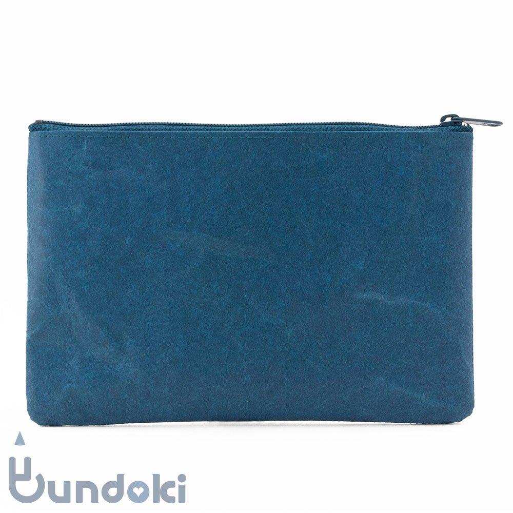 【SIWA・紙和】ペンケース・L (ブルー)