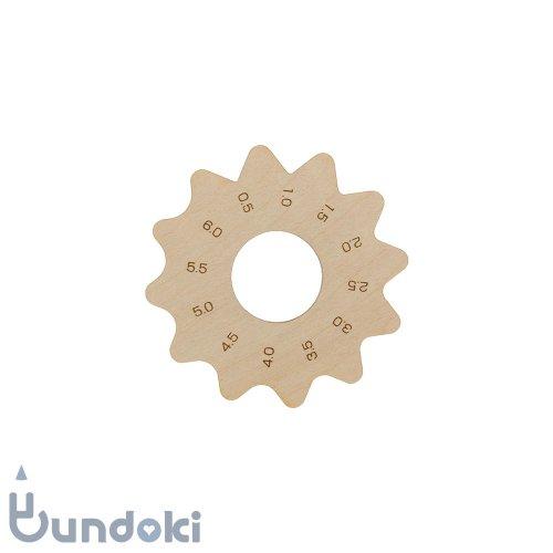 【工房 kiki】花びら面定規・アラビア数字 (メープル)