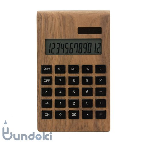 【hacoa/ハコア】Solar Battery Calculator Desk Type (ウォールナット)