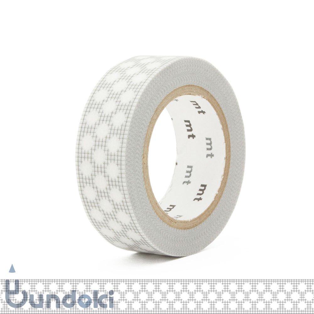 【カモ井加工紙/KAMOI】mt DECO マスキングテープ / 方眼ドット・グレー