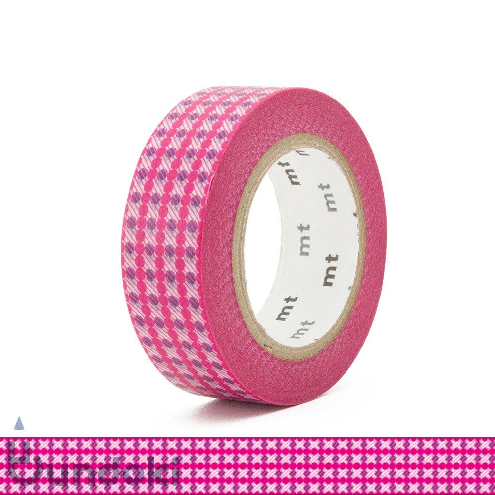 【カモ井加工紙/KAMOI】mt DECO マスキングテープ /ドットストライプ・ピンク
