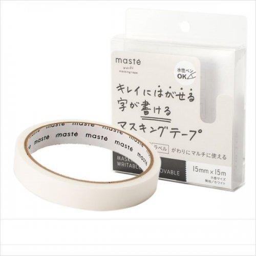 【Mark's/マークス】maste/マステ 水性ペンで書けるマスキングテープ・大巻 (ホワイト)