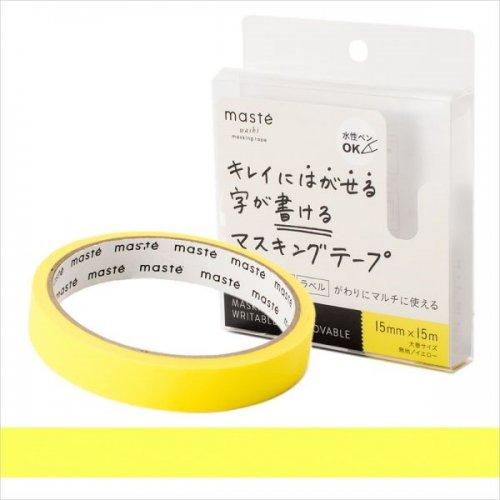 【Mark's/マークス】maste/マステ 水性ペンで書けるマスキングテープ・大巻 (イエロー)