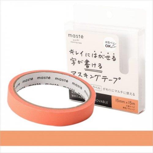 【Mark's/マークス】maste/マステ 水性ペンで書けるマスキングテープ・大巻 (オレンジ)