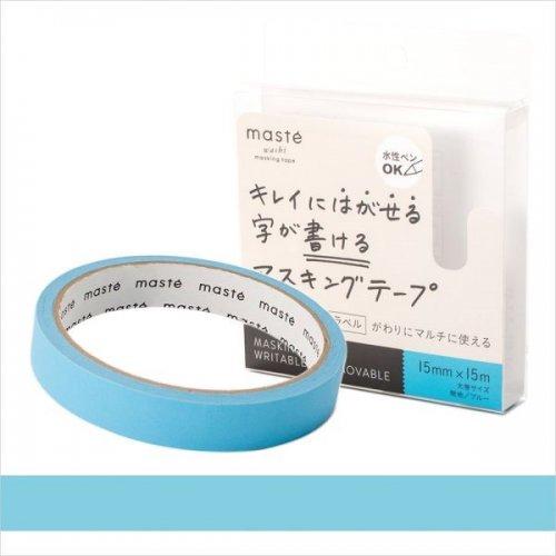 【Mark's/マークス】maste/マステ 水性ペンで書けるマスキングテープ・大巻 (ブルー)