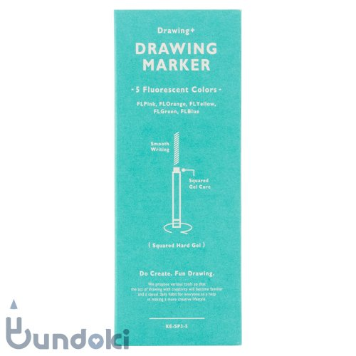 【KOKUYO/コクヨ】Drawing + /Drawing Marker 5 Fluorescent Colors