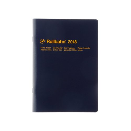 【Delfonics/デルフォニックス】2018年 ロルバーンノートダイアリー・A5 (ダークブルー)