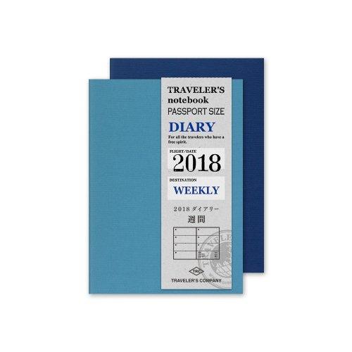 【MIDORI/ミドリ】トラベラーズノート パスポートサイズ リフィル・2018 週間
