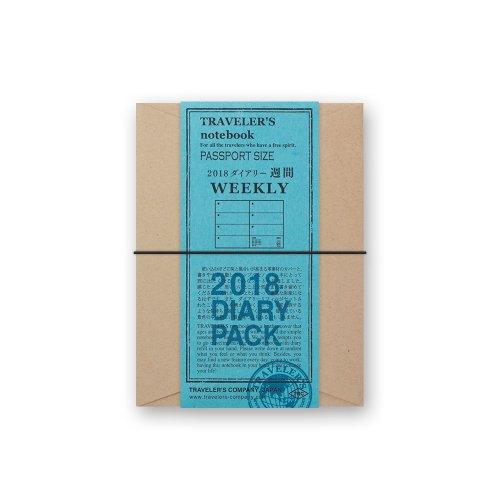 【MIDORI/ミドリ】トラベラーズノート パスポートサイズダイアリー・2018 週間 (黒)