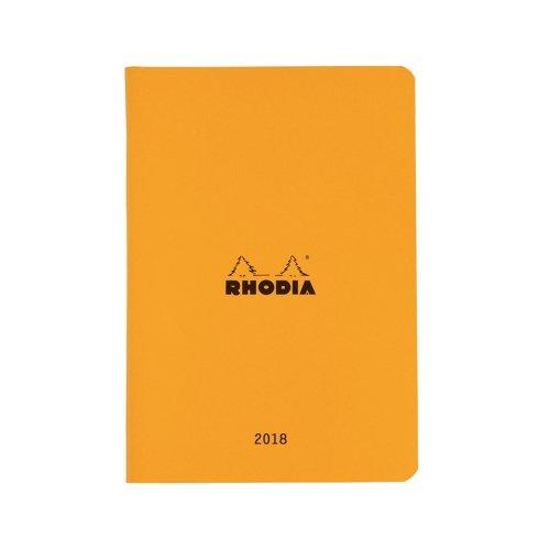 【RHODIA/ロディア】マンスリーダイアリー 12x19.5cm (オレンジ)