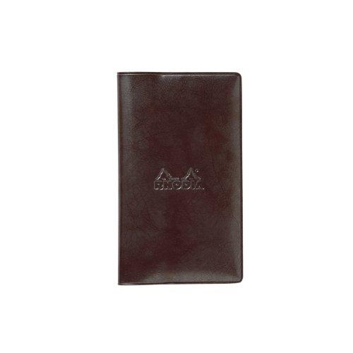 【RHODIA/ロディア】マンスリーダイアリーwith Cover 7.7x13cm (ダークブラウン)