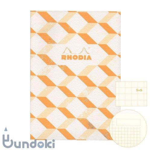 【RHODIA/ロディア】COLLECTION HERITAGE/ミシン綴じノートブック 方眼・A5 (エッシャー/アイボリー)