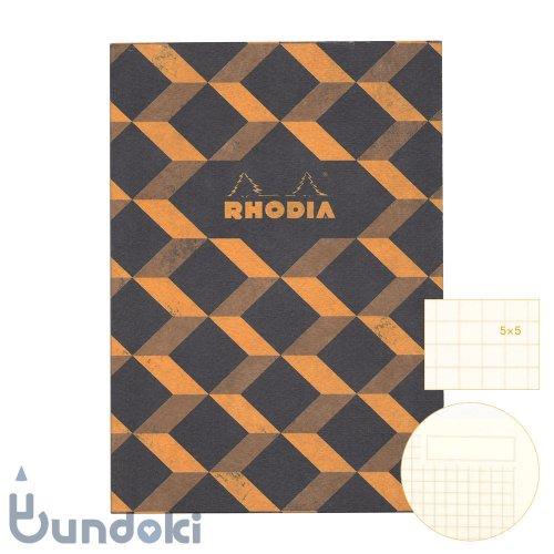 【RHODIA/ロディア】COLLECTION HERITAGE/ミシン綴じノートブック 方眼・A5 (エッシャー/ブラック)