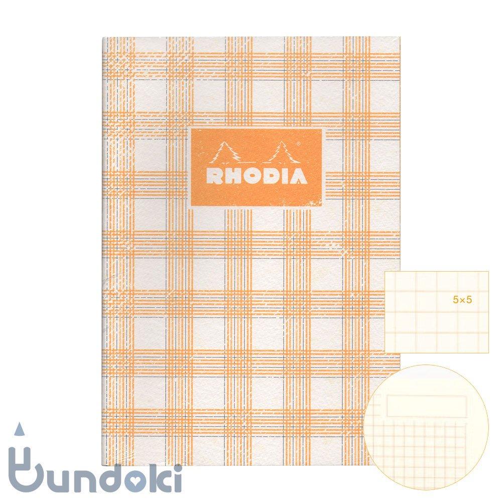 【RHODIA/ロディア】COLLECTION HERITAGE/ミシン綴じノートブック 方眼・A5 (タータン/アイボリー)