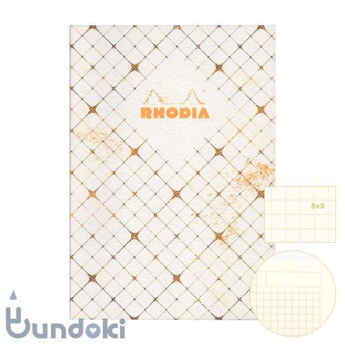 【RHODIA/ロディア】COLLECTION HERITAGE/ミシン綴じノートブック 方眼・A5 (カドリーユ/アイボリー)