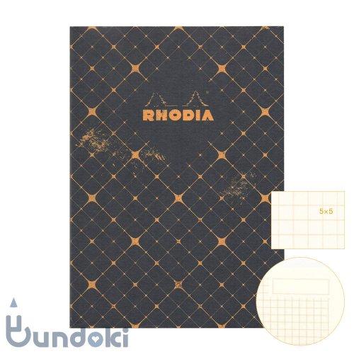 【RHODIA/ロディア】COLLECTION HERITAGE/ミシン綴じノートブック 方眼・A5 (カドリーユ/ブラック)
