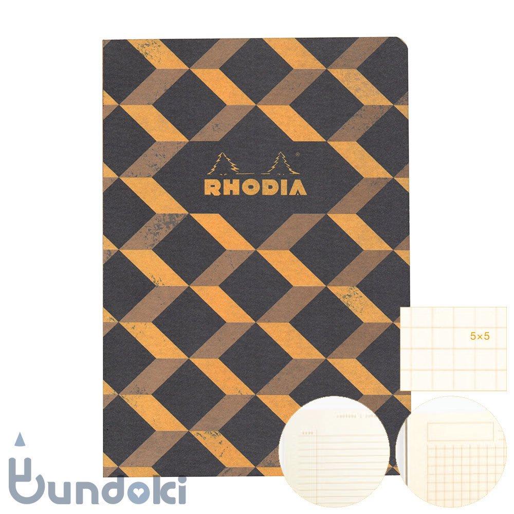 【RHODIA/ロディア】COLLECTION HERITAGE/かがり綴じノートブック 方眼・A5 (エッシャー/ブラック)