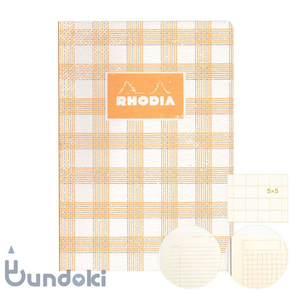 【RHODIA/ロディア】COLLECTION HERITAGE/かがり綴じノートブック 方眼・A5 (タータン/アイボリー)