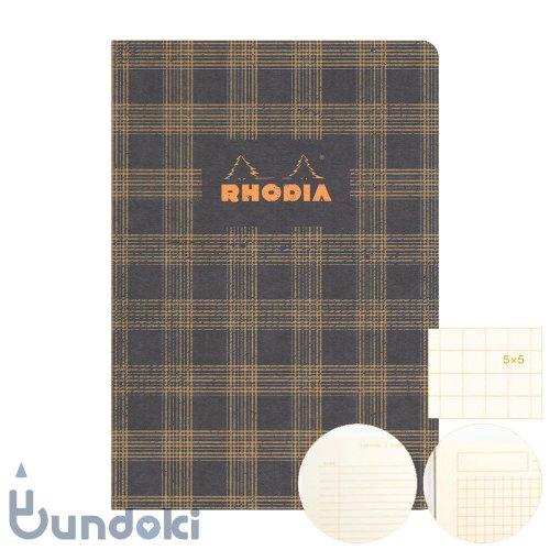 【RHODIA/ロディア】COLLECTION HERITAGE/かがり綴じノートブック 方眼・A5 (タータン/ブラック)
