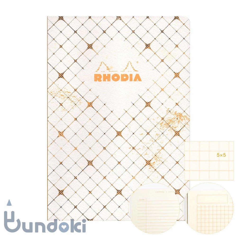 【RHODIA/ロディア】COLLECTION HERITAGE/かがり綴じノートブック 方眼・A5 (カドリーユ/アイボリー)