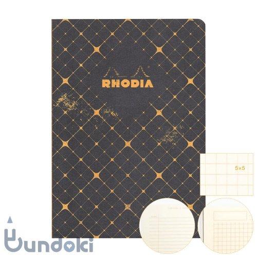 【RHODIA/ロディア】COLLECTION HERITAGE/かがり綴じノートブック 方眼・A5 (カドリーユ/ブラック)