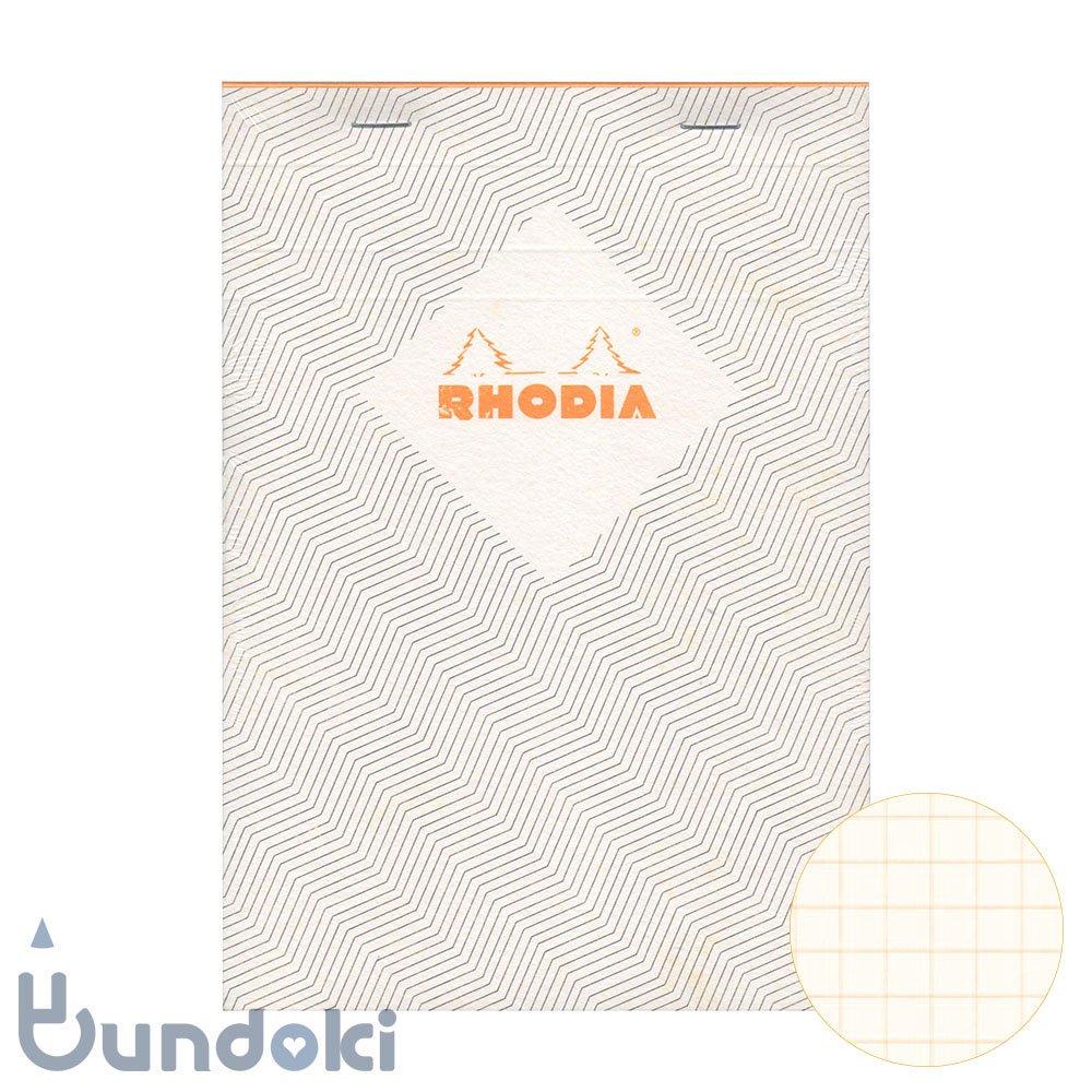 【RHODIA/ロディア】COLLECTION HERITAGE/ブロックロディア No.16 (シェブロン/アイボリー)